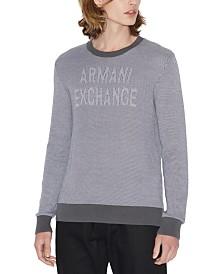 A|X Armani Exchange Men's Textured Logo Sweater