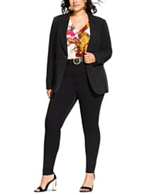 City Chic Trendy Plus Size Mrs Draper Jacket