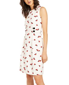 Anne Klein Pleated Sleeveless Dress