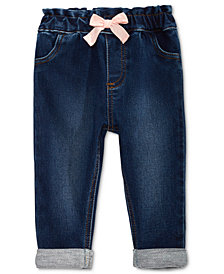 First Impressions Baby Girls Bow Jeans, Created for Macy's
