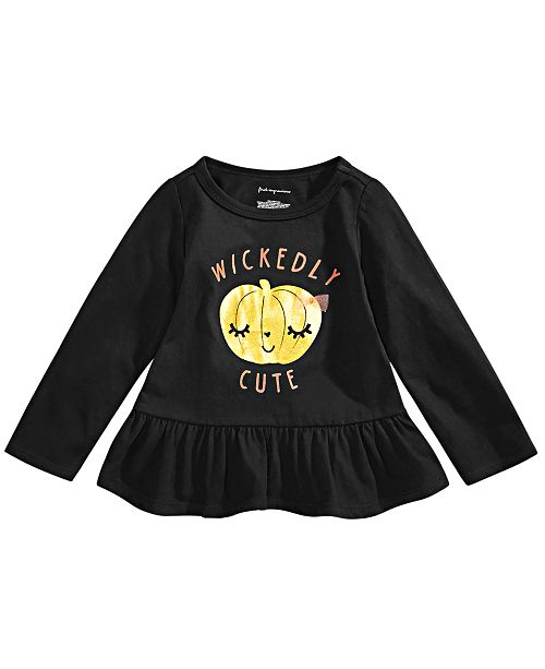 First Impressions Baby Girls Baby Girls Cotton Wickedly Cute T-Shirt, Created for Macy's
