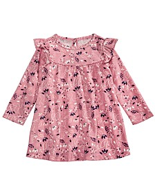 First Impressions Baby Girls Printed Dress, Created for Macy's