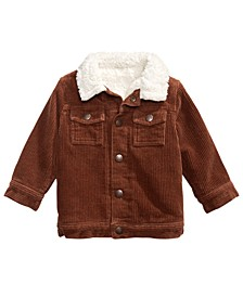 Baby Boys Faux Fur-Trim Corduroy Jacket, Created For Macy's
