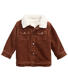 First Impressions Baby Boys Faux Fur-Trim Corduroy Jacket, Created For Macy's