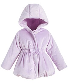 Toddler Girls Velvet Bubble Coat, Created For Macy's