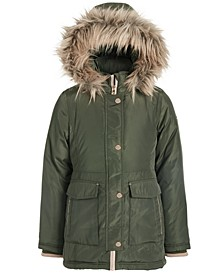 Big Girls Hooded Faux-Fur-Trim Snorkel Jacket