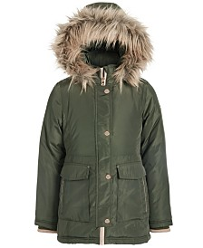 Michael Michael Kors Big Girls Hooded Faux-Fur-Trim Snorkel Jacket