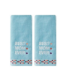 Saturday Knight Ltd Best Mom Ever 2 Piece Hand Towel Set