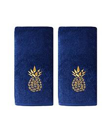 Ltd Gilded Pineapple 2 Piece Hand Towel Set