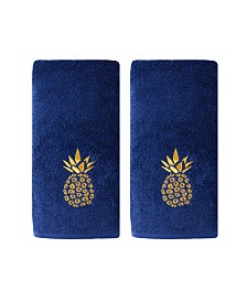 Saturday Knight Ltd Gilded Pineapple 2 Piece Hand Towel Set