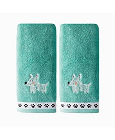 Ltd Scribble Pup 2 Piece Hand Towel Set