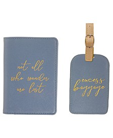 Passport Holder Luggage Tag Set