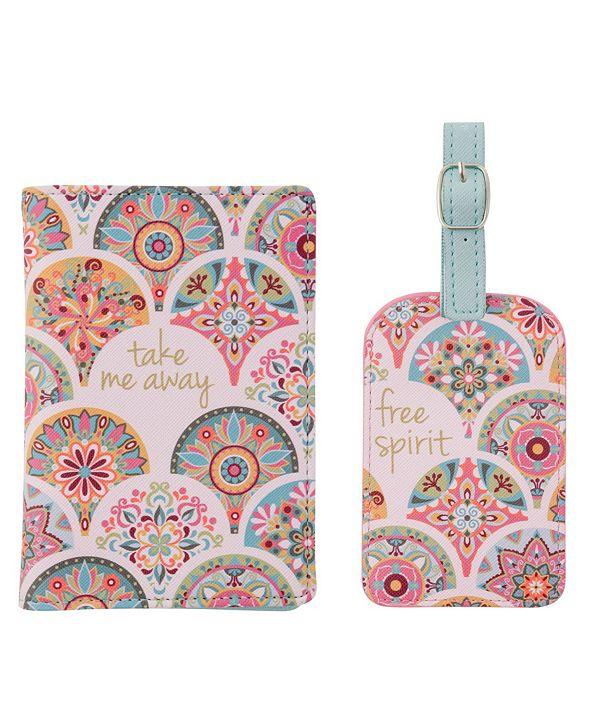 Karma Gifts Passport Holder Luggage Tag Set