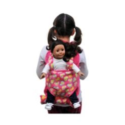 The Queen's Treasures Child's Backpack with Doll Carrier and Doll Sleeping Bag