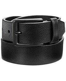 Perry Ellis Men's Casual Pebble Leather Belt