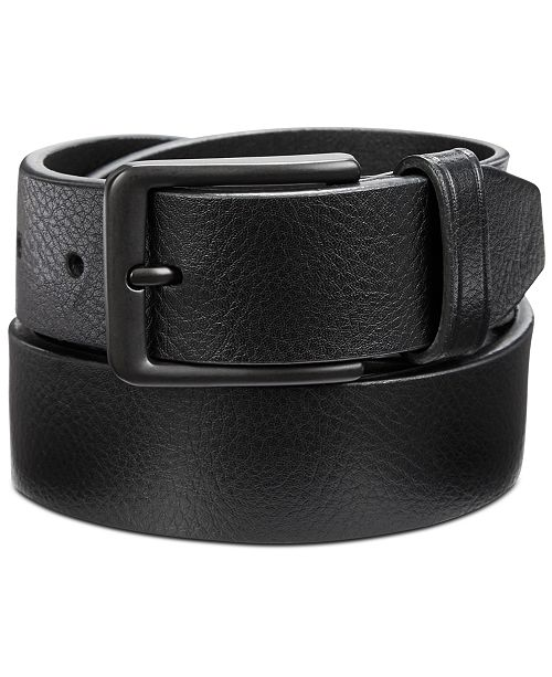 Perry Ellis Men's Casual Pebble Leather Belt