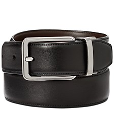 Perry Ellis Men's Annable Reversible Leather Dress Belt