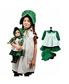 The Queen's Treasures Little House on the Prairie Child and Doll Dress Up Set