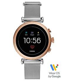 Fossil Women's Tech Sloan HR Stainless Steel Mesh Bracelet Touchscreen Smart Watch 40mm