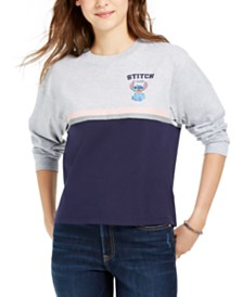 Freeze 24-7 Juniors' Colorblock Disney Stitch Sweatshirt