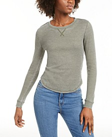Juniors' Scoop-Neck Thermal Top