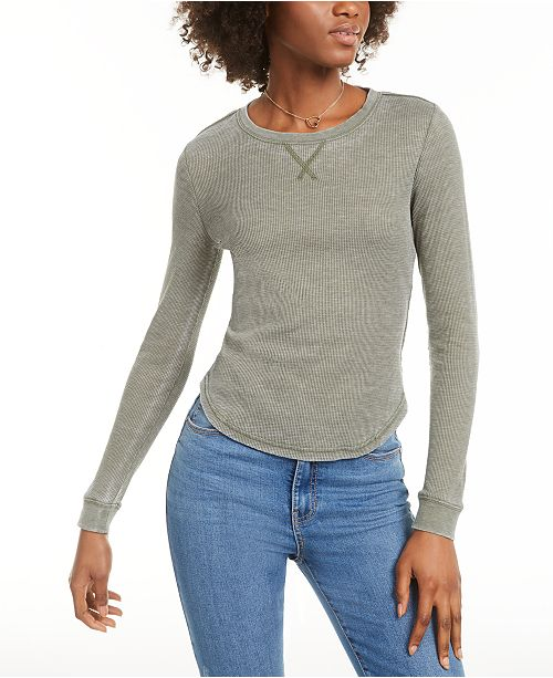 Ultra Flirt Juniors' Scoop-Neck Thermal Top