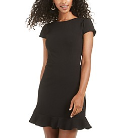 Juniors' Ruffle-Hem Dress