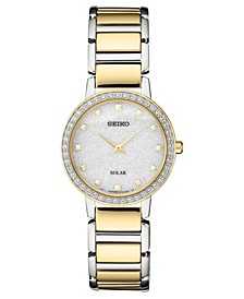 Women's Solar Two-Tone Stainless Steel Bracelet Watch 30.3mm