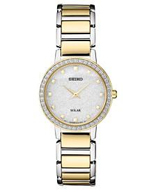 Women's Solar Two-Tone Stainless Steel Bracelet Watch 30.3mm