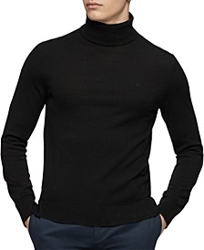 Merino Turtleneck Logo Sweater