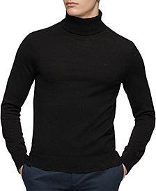 Calvin Klein Merino Turtleneck Logo Sweater