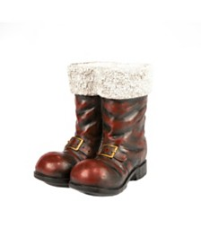 Sterling Antique-styled Magnesium Santa Boot Figurine
