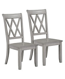 Baldwin Vintage 2-Pack X-Back Side Chair, Quick Ship