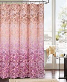 Mia Printed Canvas 13-Pc. Shower Curtain Set