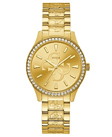 GUESS Women's Gold-Tone Stainless Steel Bracelet Watch 38mm