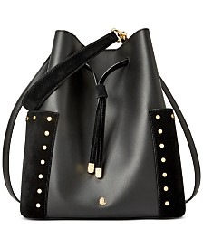 Lauren Ralph Lauren Smooth Leather Debby Drawstring