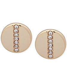 Gold-Tone Pavé Stud Earrings