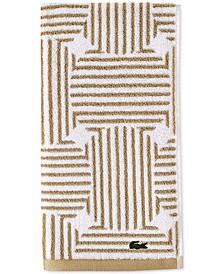 "Geo Compass Cotton 16"" x 30"" Hand Towel"