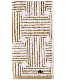"Lacoste Geo Compass Cotton 16"" x 30"" Hand Towel"