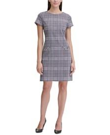 Tommy Hilfiger Retro-Plaid Pocket Shift Dress
