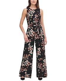 Floral Jersey Jumpsuit