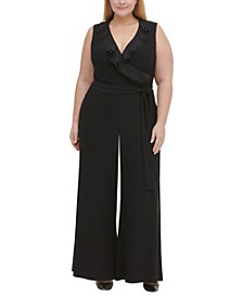 Plus Size Ruffled Jersey Jumpsuit