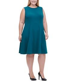 Tommy Hilfiger Plus Size Sleeveless Fit & Flare Dress