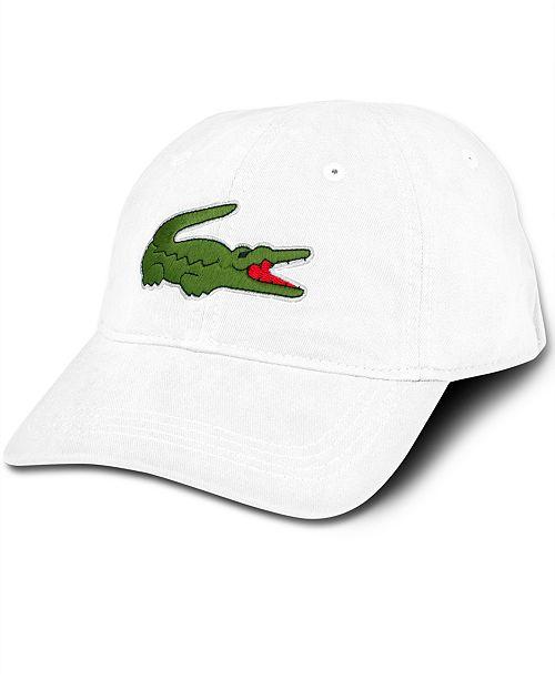 23011b7e15b Lacoste Men s Large Croc Gabardine Cap - Hats