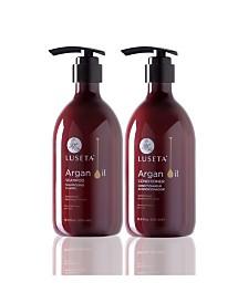 Luseta Beauty Argan Oil Shampoo & Conditioner Set 33.8 Ounces