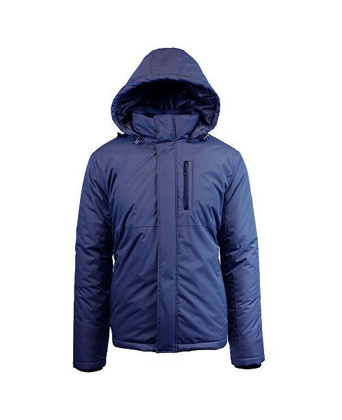 fb80482e9 Men's Heavyweight Presidential Tech Jacket with Detachable Hood