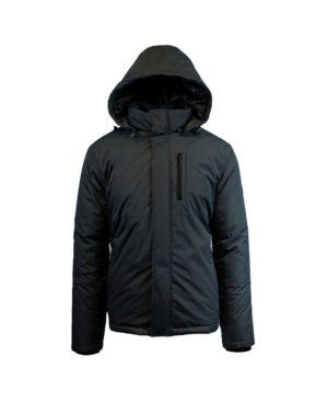 Spire By Galaxy Men's Heavyweight Presidential Tech Jacket with Detachable Hood