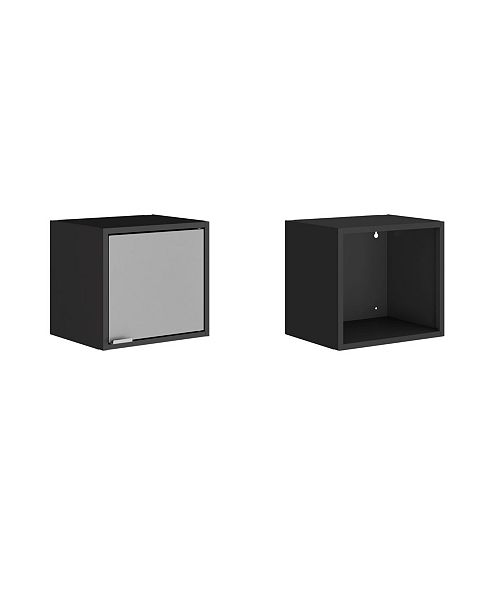 "Manhattan Comfort Smart 2-Piece 13.77"" Floating Cabinet"