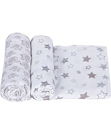 Boys and Girls Muslin Swaddle - Pack of 2