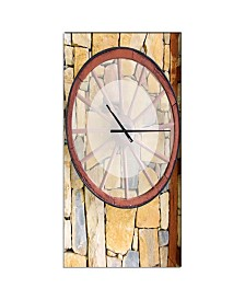 Designart Oversized Rustic Metal Wall Clock